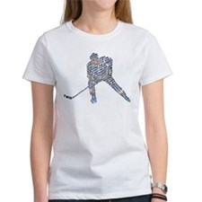 Hockey Player Typography Tee