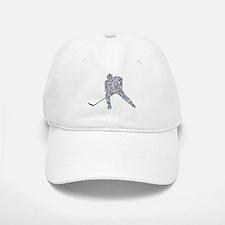 Hockey Player Typography Baseball Baseball Cap