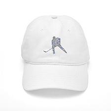Hockey Player Typography Baseball Cap