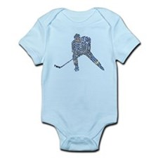 Hockey Player Typography Infant Bodysuit