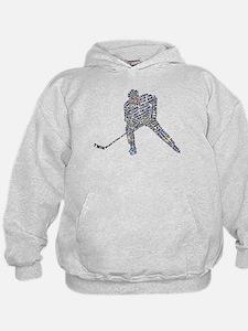 Hockey Player Typography Hoodie