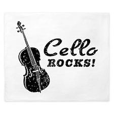 Cello Rocks King Duvet