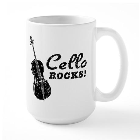 Cello Rocks Large Mug