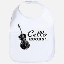 Cello Rocks Bib