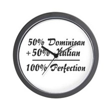 Half Italian, Half Dominican Wall Clock