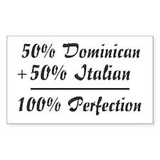 Half Italian, Half Dominican Rectangle Decal