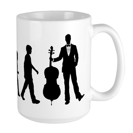 Cellist Evolution Large Mug