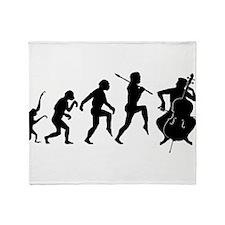 Cellist Evolution Throw Blanket