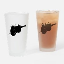 Flaming Hot Cello Drinking Glass