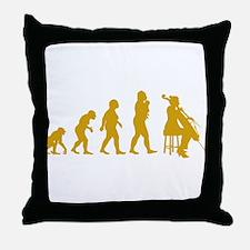 Cellist Evolution Throw Pillow
