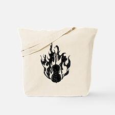 Flaming Cello Tote Bag