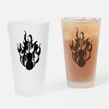Flaming Cello Drinking Glass