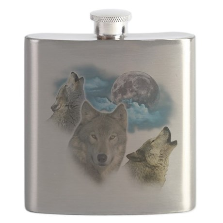 Wolves Moon Flask