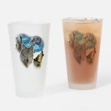 Wolves Moon Drinking Glass