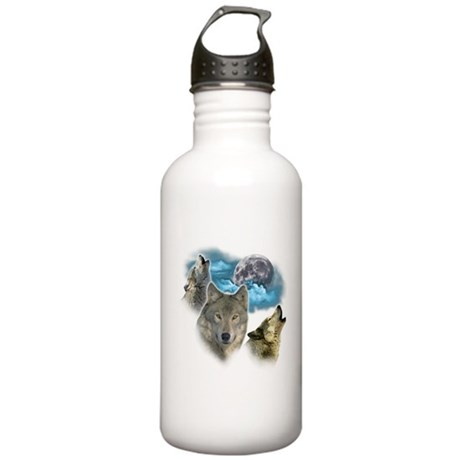 Wolves Moon Stainless Water Bottle 1.0L