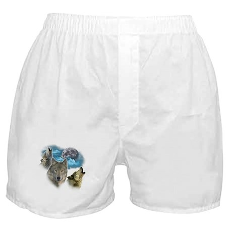 Wolves Moon Boxer Shorts
