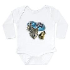 Wolves Moon Long Sleeve Infant Bodysuit
