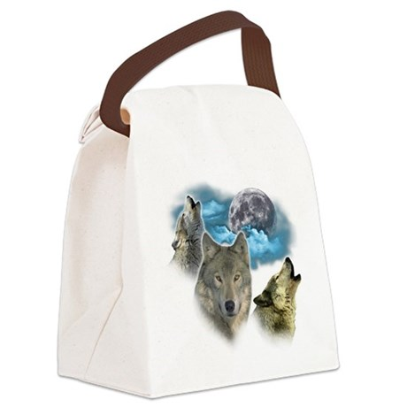Wolves Moon Canvas Lunch Bag