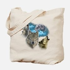Wolves Moon Tote Bag