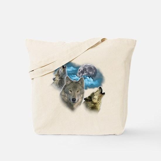 Wolves Moon Tote Bag