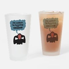 Angry Chimp Drinking Glass