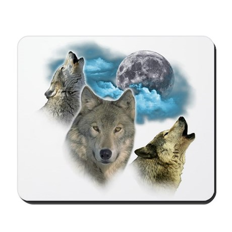 Wolves Moon Mousepad