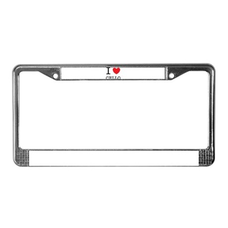 I Heart Cello License Plate Frame