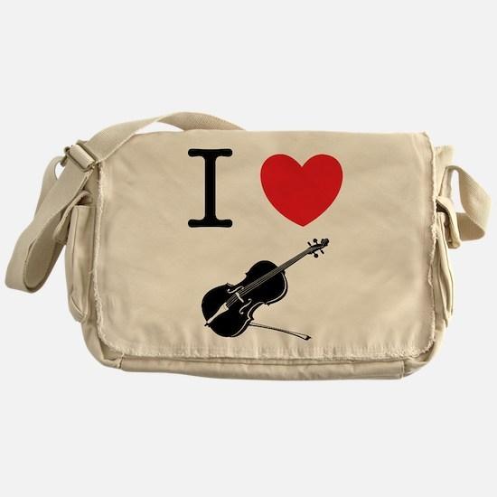 I Heart Cello Messenger Bag