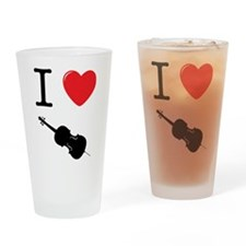 I Heart Cello Drinking Glass