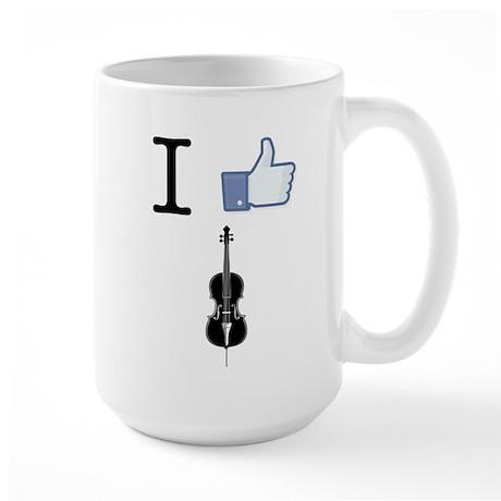 I Like Cello Large Mug