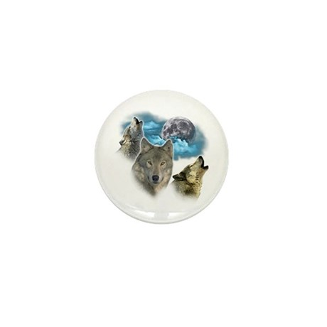 Wolves Moon Mini Button (10 pack)