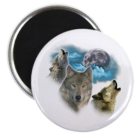 "Wolves Moon 2.25"" Magnet (100 pack)"