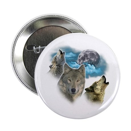 """Wolves Moon 2.25"""" Button (100 pack)"""