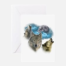 Wolves Moon Greeting Card
