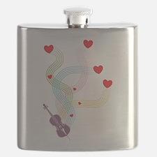 Lovely Cello Flask