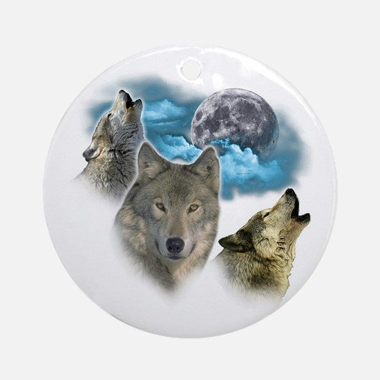 Wolves Moon Ornament (Round)