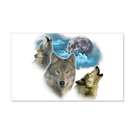 Wolves Moon 20x12 Wall Decal