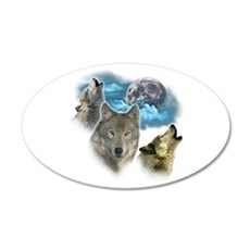Wolves Moon Wall Decal