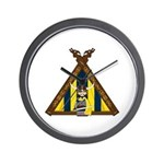 Cute Viking Warrior at Tent Wall Clock