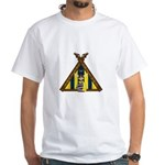 Cute Viking Warrior at Tent White T-Shirt