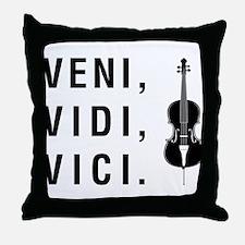 Veni Vidi Vici Throw Pillow