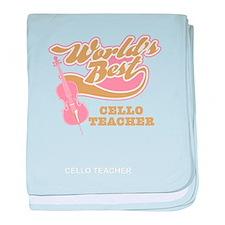 Cello Teacher baby blanket