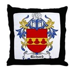 Richard Coat of Arms Throw Pillow