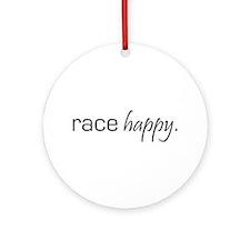 Race Happy Ornament (Round)