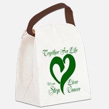 Stop Liver Cancer Canvas Lunch Bag