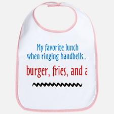 Burger Fries and a Shake Bib