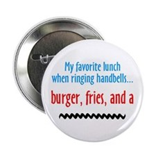 """Burger Fries and a Shake 2.25"""" Button (10 pack)"""
