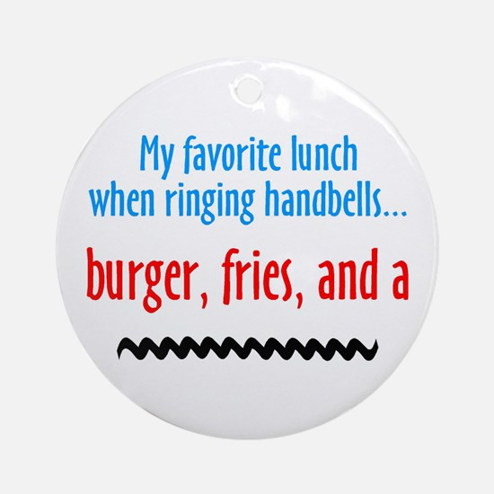 Burger Fries and a Shake Ornament (Round)
