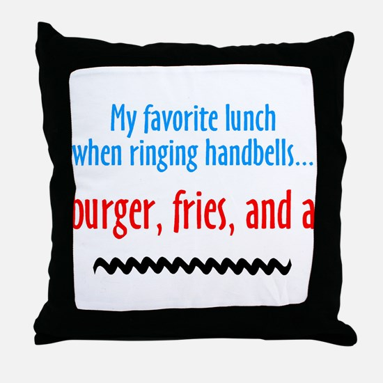 Burger Fries and a Shake Throw Pillow