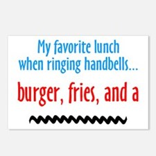 Burger Fries and a Shake Postcards (Package of 8)